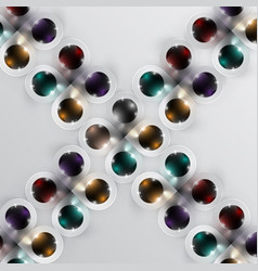 Colorful spheres background vector