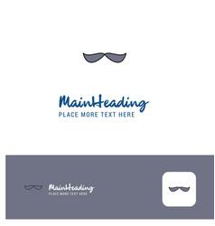 creative mustache logo design flat color logo vector image