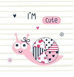 Cute snail vector