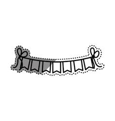Decorative party pennants vector