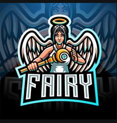 fairy esport mascot logo design vector image