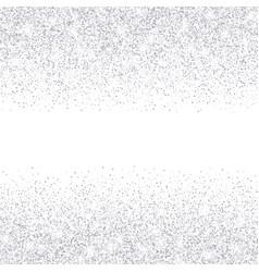 falling in lines silver glitter confetti vector image