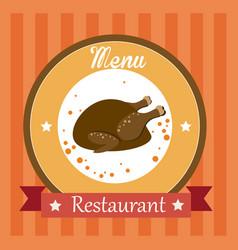 Food design over orange background vector