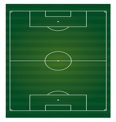 Football field vertical isolated vector