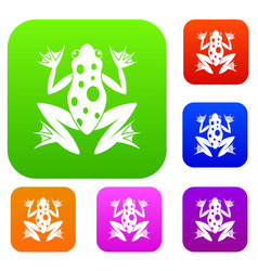 frog set collection vector image