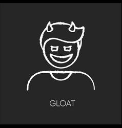 Gloat chalk white icon on black background vector