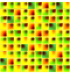 Glossy colorful mosaic square cells grid vector