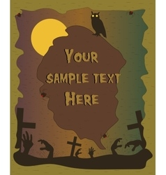 Halloween poster with zombie hands silhouettes vector