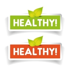 Healthy label set vector image