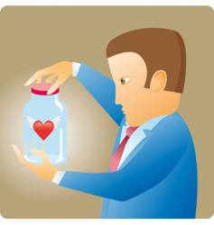 heart in bottle vector image
