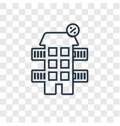 house concept linear icon isolated on transparent vector image