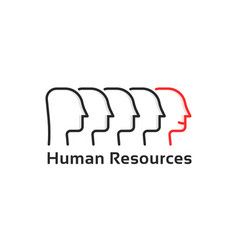 human resources with thin line people vector image