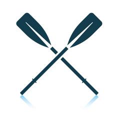 Icon boat oars vector