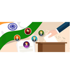 india democracy political process selecting vector image