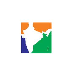 India map logo icon symbol element vector