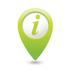 information icon green map pointer vector image