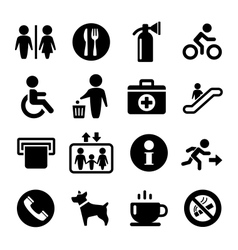 International Service Signs icon set vector image