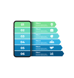 Iphone mock up infographic slide template 6 vector