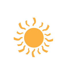 Isolated sun icon vector