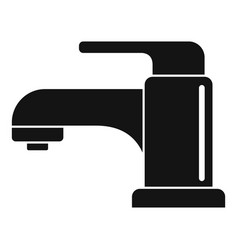 Kitchen faucet icon simple style vector