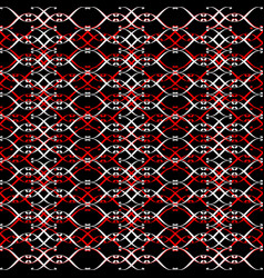 Lacy three red black white vector