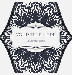 Light color vintage card with abstract ornament vector