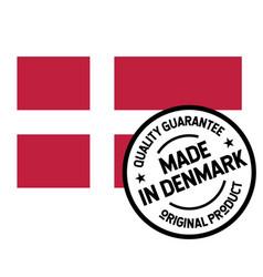 Made in denmark label on white vector