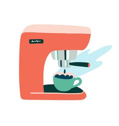 Modern coffee machine clipart trendy flat hand vector