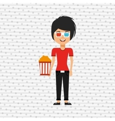 movie viewer design vector image