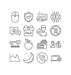 No parking computer mouse and internet chat icons vector