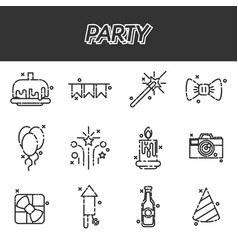 party icons set vector image