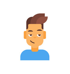 Profile icon male emotion avatar man cartoon vector