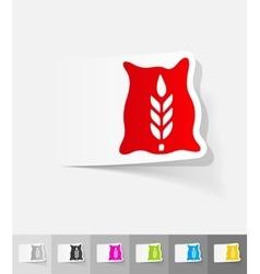 Realistic design element bag of grain vector