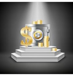 Realistic Money Financial Template vector