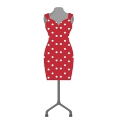 Red dress fashion clothing vector