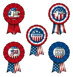 Ribbon USA First vector