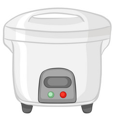 Rice cooker isolated on white background vector