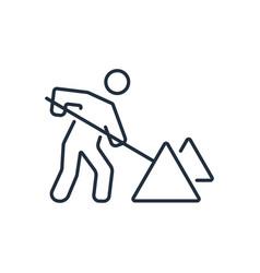 roadwork icon in thin line style symbols vector image