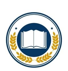 School emblem frame icon vector