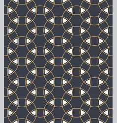 Seamless pattern overlapping circles nad vector