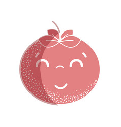 Silhouette kawaii nice happy tomato vegetable vector