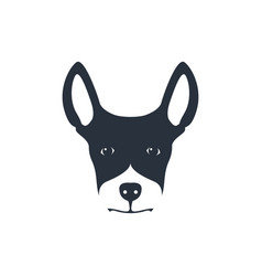 simple dog head on white background vector image