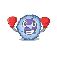 Sporty boxing basophil cell mascot character style vector