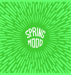 spring mood vector image