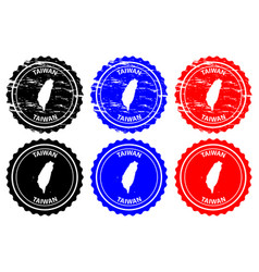 Taiwan rubber stamp vector
