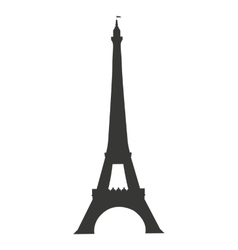tower eiffel paris isolated icon vector image