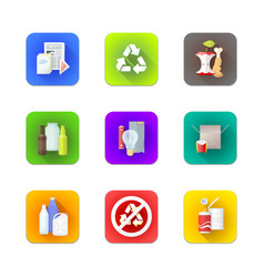 Various recycle waste management set vector