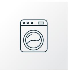 washing machine icon line symbol premium quality vector image