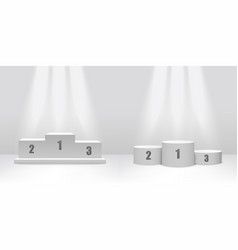white podium stage design with platforms for vector image