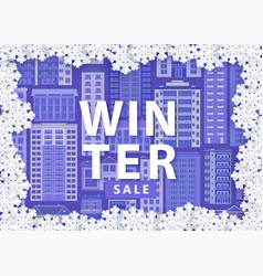 winter sale banner with vector image